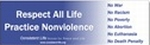 Respect All Life Bumper Sticker